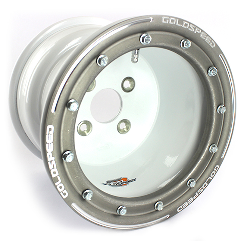Goldspeed White Wheel 10x8 3+5 4/100 Conical  Ø57,5mm Beadlock Alu Gray